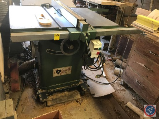 Grizzley Tables Saw. Believed to be model G1023S. 10 inch 3 HP