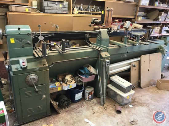 General Model 260 Wood Lathe with 8 foot bed and custom duplicator..