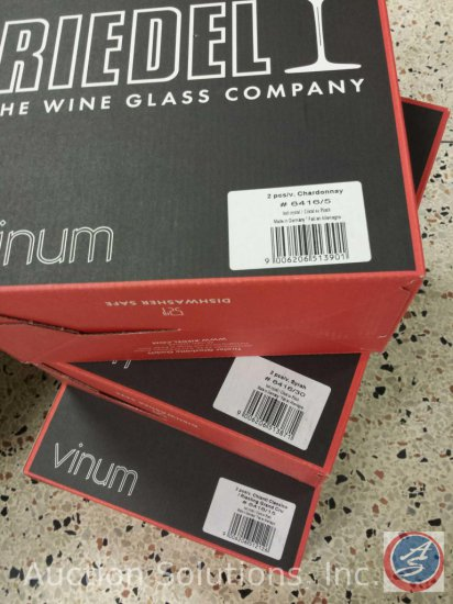 [6] {NEW} Riedel Vinum Chianti-Riesling/Chardonnay/Syrah Stemmed Crystal Wine Glasses - Made in