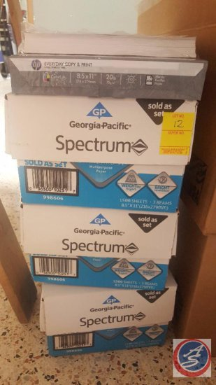 Georgia-Pacific Spectrum 1500 Sheets (3) Reams of Printer Paper