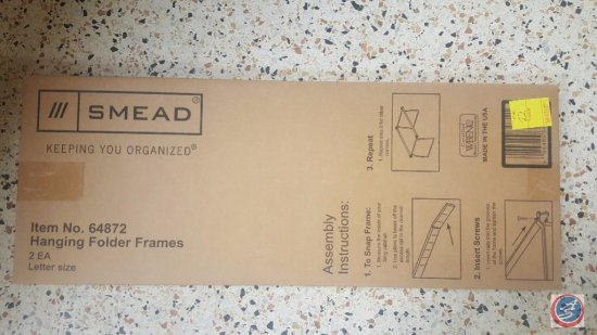 (6) Boxes of Smead Hanging Folder Frames Item #64872, and Assorted File Folders
