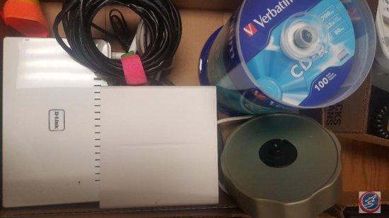 D-Link Wi-Fi Router Model #Dir-655c1, Verbatim CD-R, and Memorex AX Slim DVD Multi Format Recorder