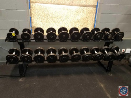 A 2 tier weight rack sizes pictured measuring 90.5 in X 18 in X 29 in