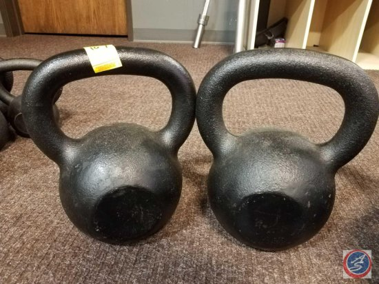 pair of 70 lbs. Hampton kettle bells