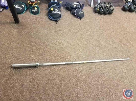 Metal weight lifting bar