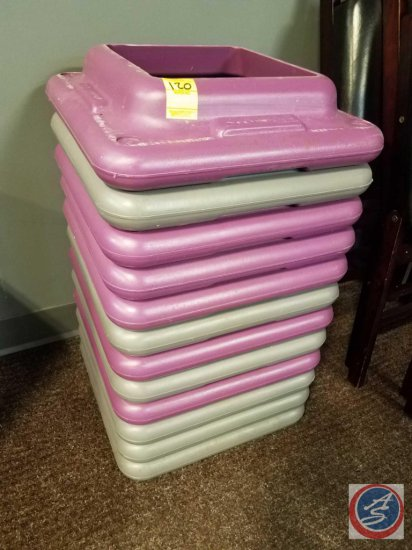 12 plastic risers