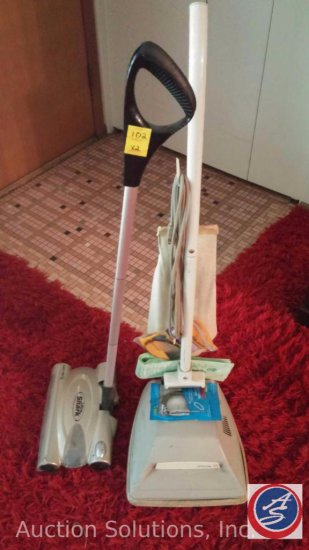 JC Penney Vacuum Cleaner and a Euro Pro Ultra Shark Cordless Sweeper