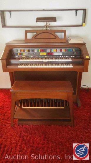 Promenade w/ Magic Genie 4-Channel Organ w/ Bench Includes Music Books Inside Bench