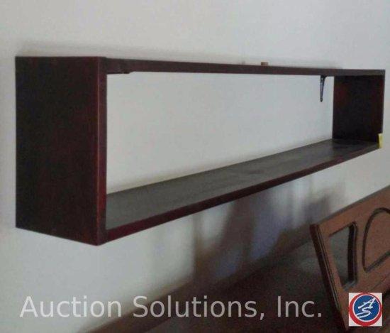 Rectangular, Wooden Wall Shelf