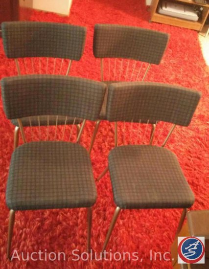(4) Reupholstered Vintage Kitchenette Chairs