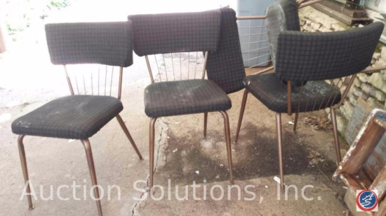 (4) Reupholstered Vintage Kitchenette Chairs (Need Cleaning)