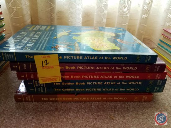 Complete Set OF The Golden Book Picture Atlas of the World
