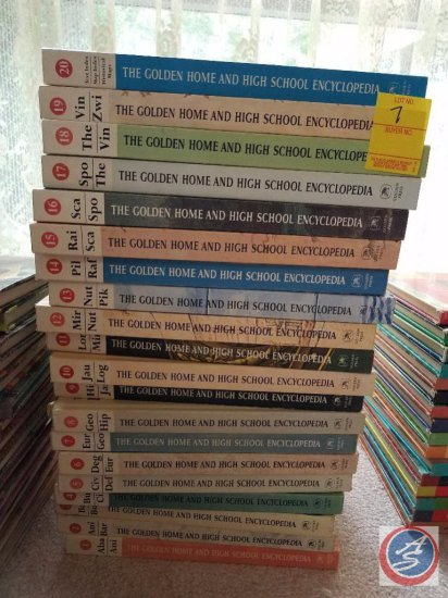 Complete Set of The Golden Home and High School Encyclopedia