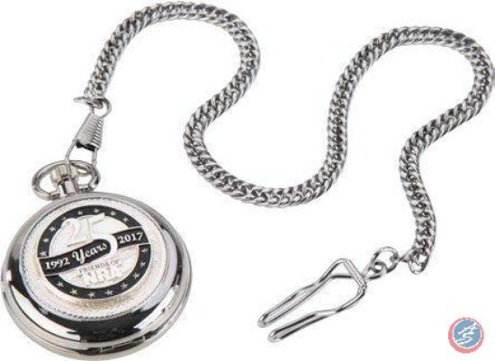 Pocket Watch with Silver Anniversary Logo
