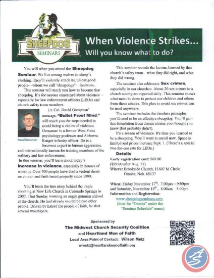 When Violence Strikes Seminar