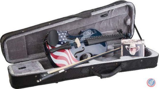 Charlie Daniels Limited Ed. Signed Flag Fiddle