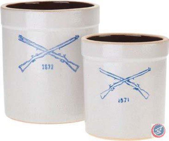 Burley Clay Stoneware Crocks - Set of 2