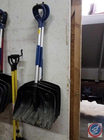 (4) SunCast snow shovels measuring 20 inches