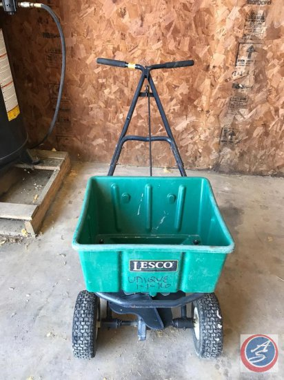 (4) Lesco push spreaders with 50 pound capacity 4-1 purchased in 2016