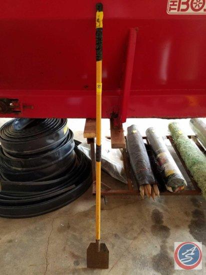 (2) sidewalk metal ice scraper