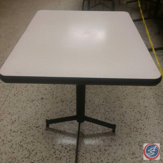 "(4x) 30""x 24""x 30"" Beige/Black Tables ((SOLD TIMES THE MONEY))"