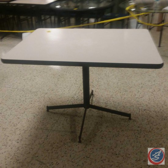 "(3x) 42""x 30""x 30"" Beige/Black Base Tables ((SOLD TIMES THE MONEY))"