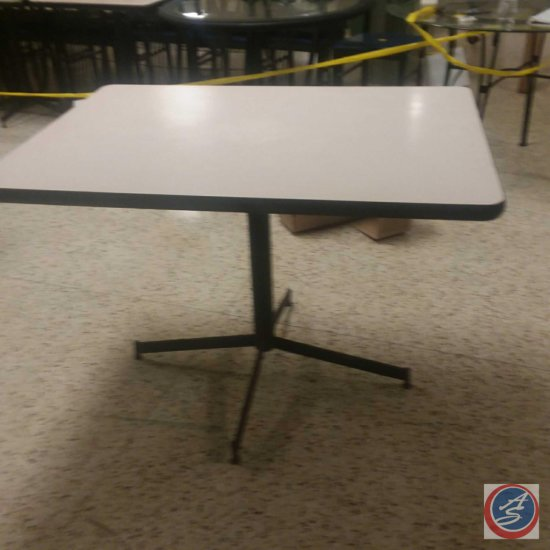 """(3x) 42""""x30""""x30"""" Beige/Black Base Tables (SOLD TIMES THE MONEY)"""