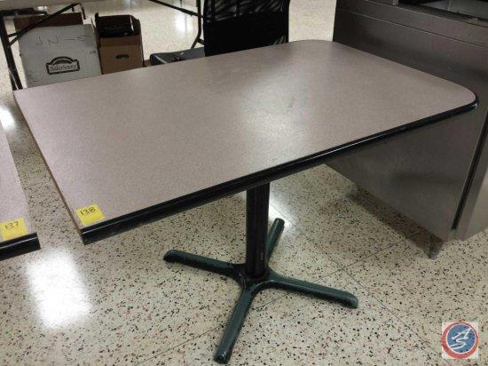 Single Pedestal Laminate 3-Side Guarded Edge Table 45x30x30