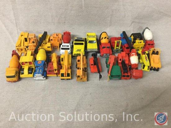 (24) Tomica, Majorette, Matchbox, Corgi, Road Champs Die-Cast Construction Vehicles