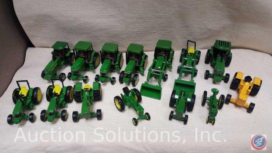 (10) Ertl John Deere Tractors: 5020 Yellow Diesel, 4x4 With Cab and sound, 6400 4x4, Etc