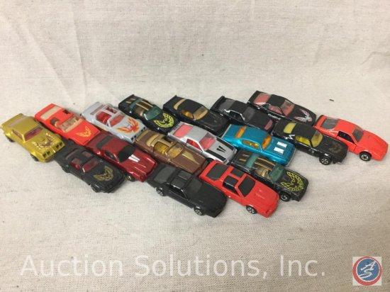 (17) Matchbox, Road Champs, Hot Wheels, Corgi, Trans Am: Pontiac Firebird Die-Cast