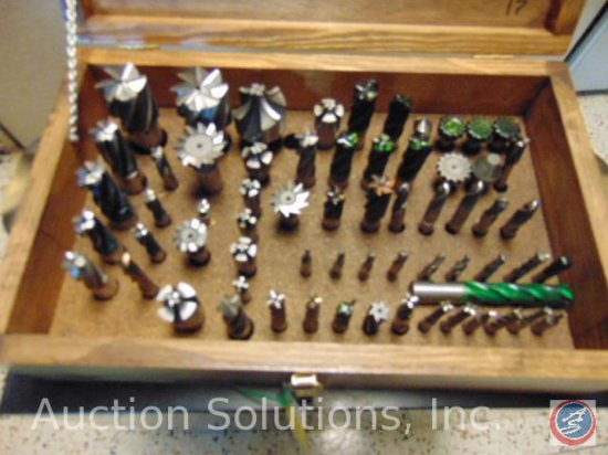 Milling Cutters: 2'' and 1 3/4'' End Mills; 2'' Radius Cutter; Hog Mills; Slit Cutters; Ball End