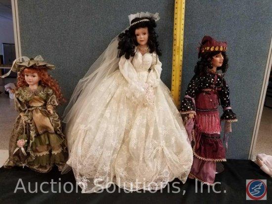 (3) misc. dolls