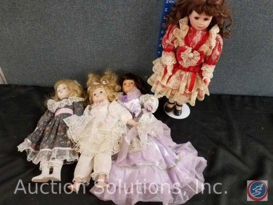 (4) misc. porcelain dolls