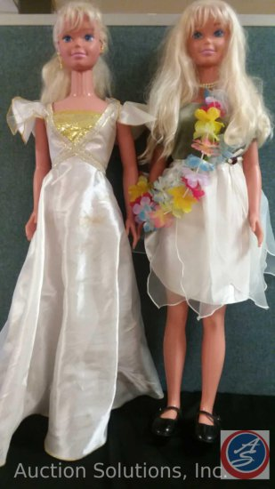 (2) Mattel Barbie Dolls