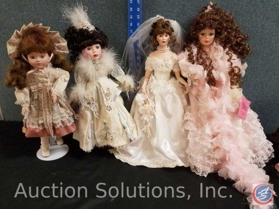 "Paradise Galleries porcelain doll, (2) misc. doll, Brinn's 1989 doll #1550 ""Saex"""