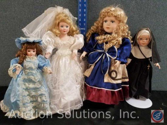 (2) misc. doll, nun doll, 1989 Heritage Mint Ltd. Porcelain doll