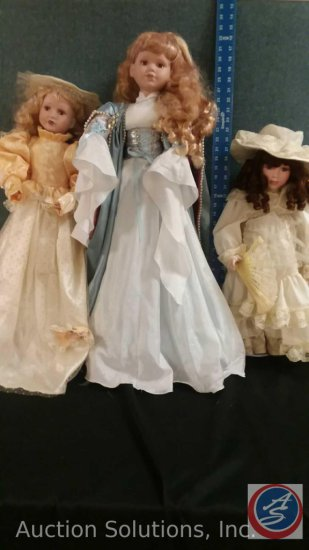 "Ahley Belle Porcelain Doll, ""Sandra"" Collectible Memories Porcelain Doll, Misc 31"" Porcelain Doll"