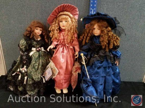3 porcelain dolls, (1) Original Samantha Collection by Samantha Medici named Viviane