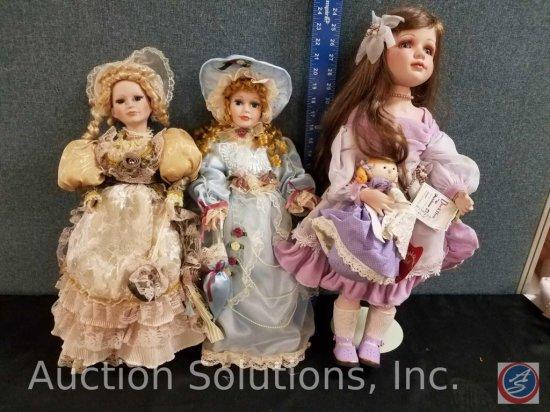 (2) Victorian porcelain dolls, Mary Sullivan doll d24-007 Nicola 24h