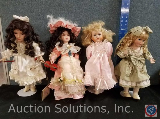 Goldenvale Collection 1-2000 Gloria, Original Tiffany by Tiffany Pacini, (2) misc. porcelain dolls