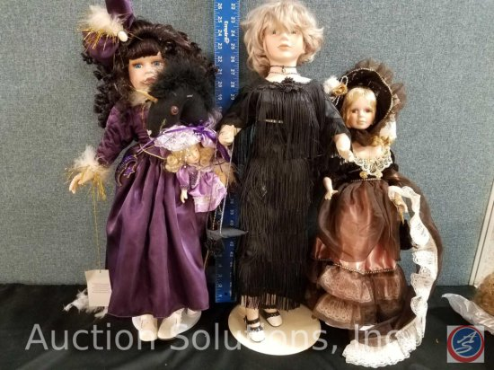 (2) misc. porcelain doll, Collectors Choice Series Choice by DanDee