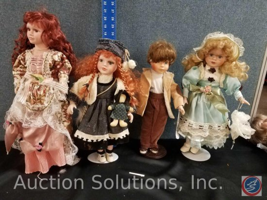 Heritage Mint Limited Forever Friends Briony Collection, (3) misc. porcelain dolls