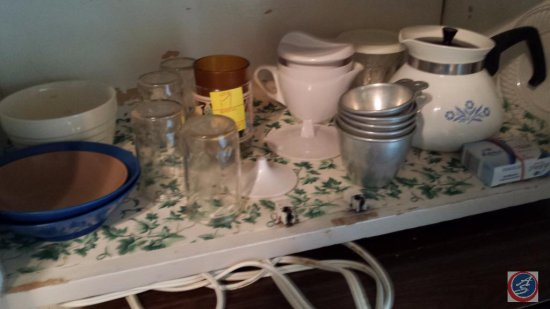 Bowls, Glass cups, Tea Pot, and more