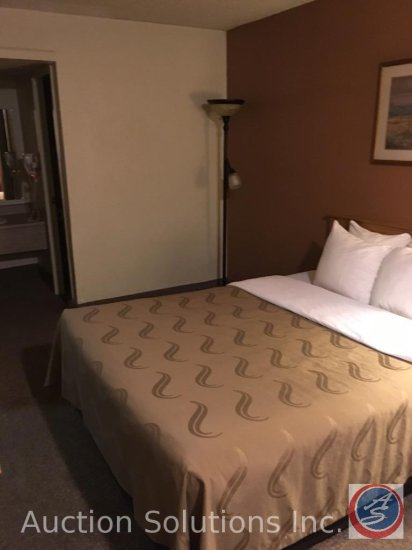 Contents of room except flat screen TV, Heating and A/C units. This room has 1 Queen Size Bed