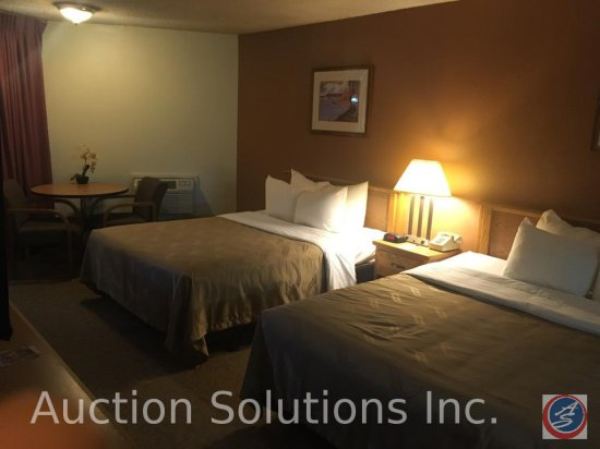 Contents of room except flat screen TV, Heating and A/C units. This room has 2 Queen Size Beds