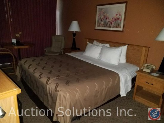 Contents of room except flat screen TV, Heating and A/C units. This room has 1 King Size Bed