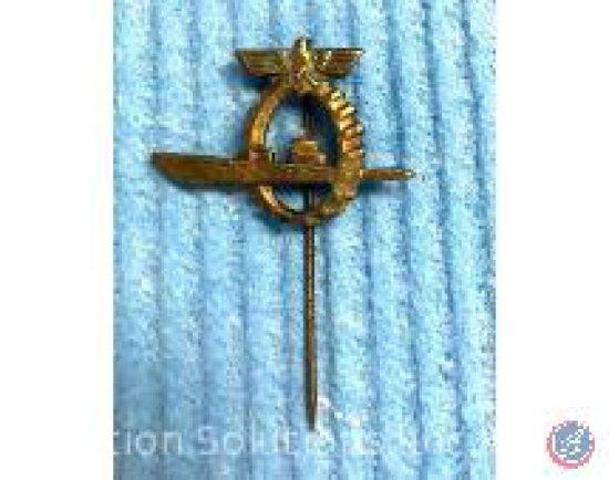 Submarine Pin w/ German Circle and Eagle