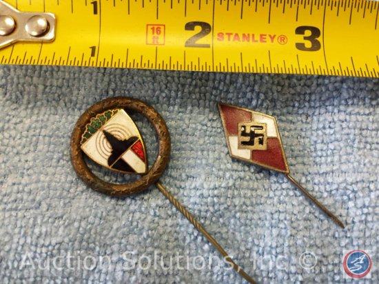 [2] Hitler Youth Pins (No Hallmark)