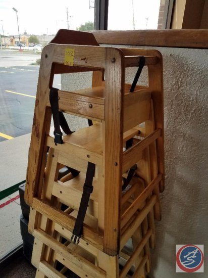 [5] Wooden High Chairs {SOLD 5x THE MONEY}